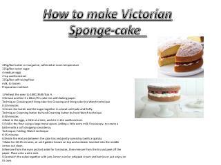 How to make Victorian Sponge-cake