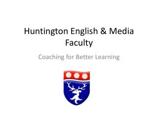 Huntington English & Media Faculty