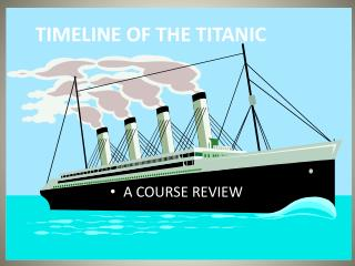 TIMELINE OF THE TITANIC
