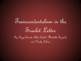 Transcendentalism in the Scarlet Letter