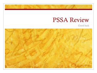 PSSA Review