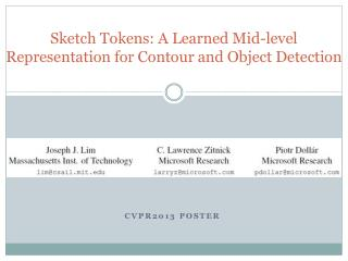 Sketch Tokens: A Learned Mid-level Representation for Contour and Object Detection