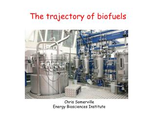The trajectory of biofuels