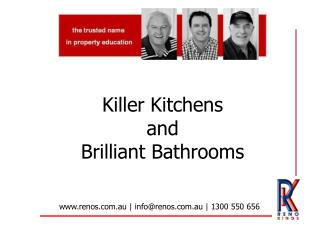 Killer Kitchens  and  Brilliant Bathrooms