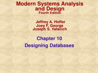 Modern Systems Analysis and Design Third Edition   Jeffrey A. Hoffer  Joey F. George Joseph S. Valacich