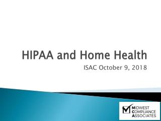 HIPAA and Home Health