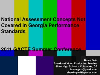 National Assessment Concepts Not Covered In Georgia Performance Standards
