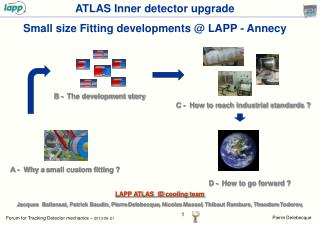 ATLAS Inner detector upgrade  Small size Fitting developments @ LAPP - Annecy