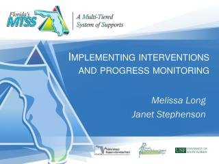 Implementing interventions and progress monitoring