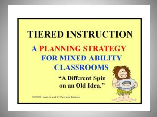 """""""Tiered Instruction"""""""