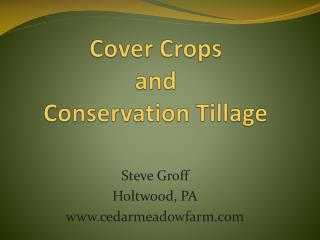 Cover Crops and Conservation Tillage