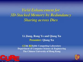 Yield Enhancement for  3D-Stacked Memory by Redundancy Sharing across Dies
