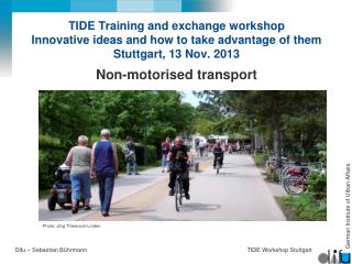 Non- motorised transport