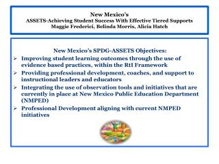 New Mexico's SPDG-ASSETS Objectives: