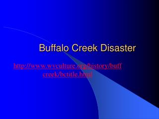 Buffalo Creek Disaster
