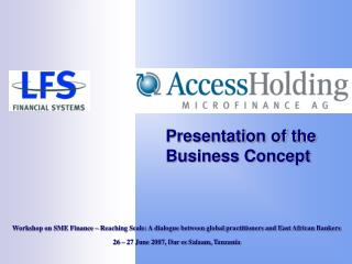 Presentation of the Business Concept