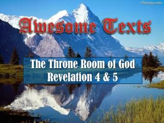 The Throne Room of God Revelation 4 & 5