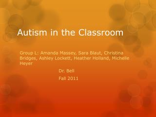 Autism in the Classroom