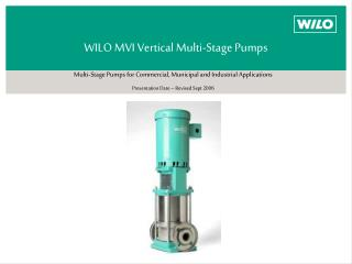 WILO MVI Vertical Multi-Stage Pumps