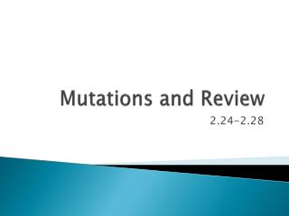 Mutations and Review