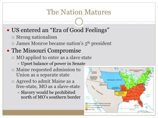 The Nation Matures