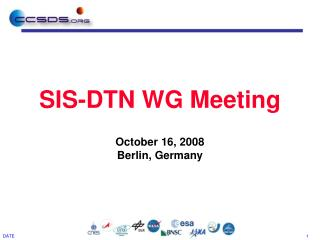 SIS-DTN WG Meeting