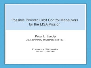 Possible Periodic Orbit Control Maneuvers for the LISA Mission