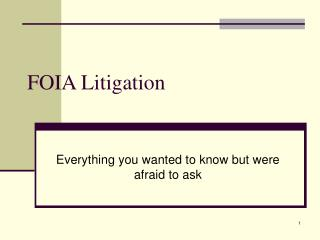FOIA Litigation