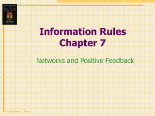 Information Rules Chapter 7