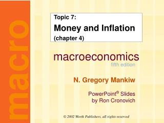 Topic 7: Money and Inflation (chapter 4)
