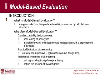 Model-Based Evaluation
