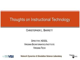 Thoughts on Instructional Technology