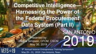 9 th Annual Veteran Entrepreneur Training Symposium