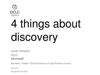 4 things about discovery