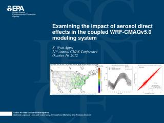 Examining the impact of aerosol direct effects in the coupled WRF-CMAQv5.0 modeling system