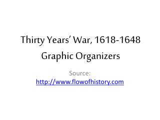 Thirty Years' War, 1618-1648 Graphic Organizers