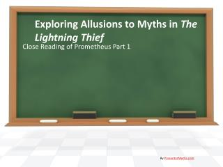 Exploring Allusions to Myths in  The Lightning Thief