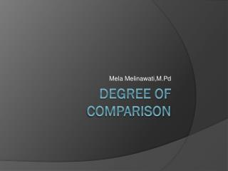 Degree of Comparison