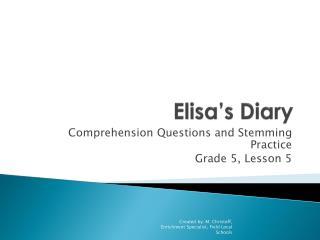 Elisa's Diary