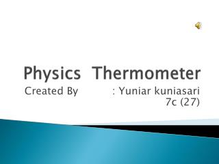 Physics  Thermometer