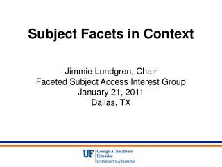 Subject Facets in Context