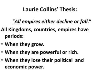 Laurie Collins'  Thesis: