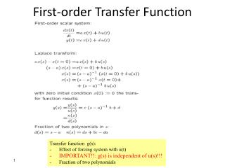 First-order Transfer  Function