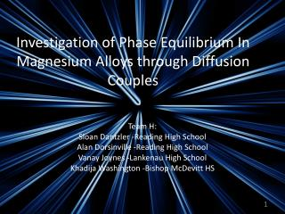 Investigation of Phase Equilibrium In Magnesium Alloys through Diffusion Couples