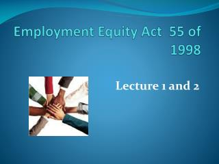 Employment Equity Act 55 of 1998