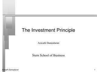 The Investment Principle