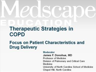 Therapeutic Strategies in COPD Focus on Patient Characteristics and Drug Delivery