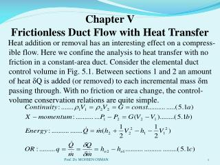Chapter V Frictionless Duct Flow with Heat Transfer