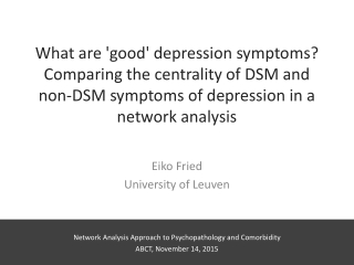 The Latent Structure of DSM Major Depressive Disorder Symptoms