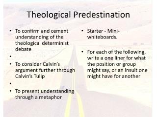 Theological Predestination